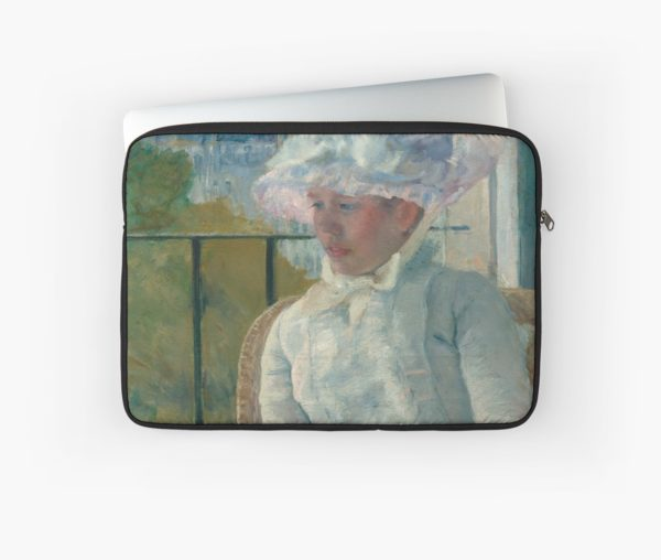 Young Girl at a Window Oil Painting by Mary Stevenson Cassatt Laptop Sleeves