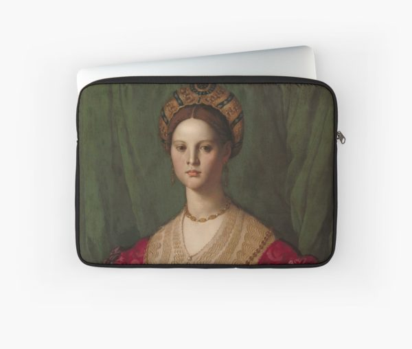 A Young Woman and Her Little Boy Oil Painting by Agnolo Bronzino Laptop Sleeves