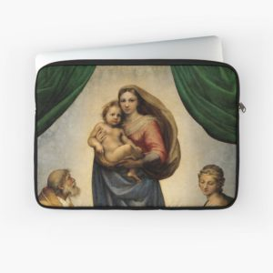 The Sistine Madonna Oil Painting by Raphael Laptop Sleeves