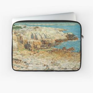 A North East Headland Oil Painting by Childe Hassam Laptop Sleeves