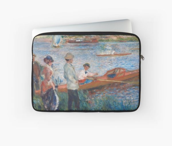 Oarsmen at Chatou Painting by Auguste Renoir Laptop Sleeves