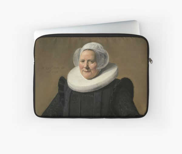 Portrait of an Elderly Oil Painting Lady by Frans Hals Laptop Sleeves