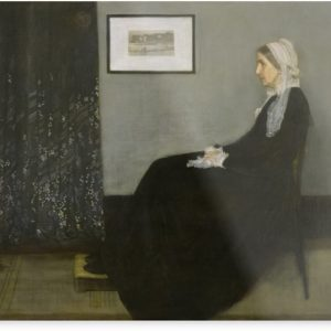 Whistlers Mother Oil Painting by James McNeill Whistler Metal Prints