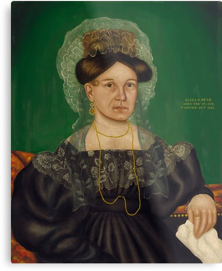 Eliza R. Read Oil Painting by Royall Brewster Smith Metal Prints