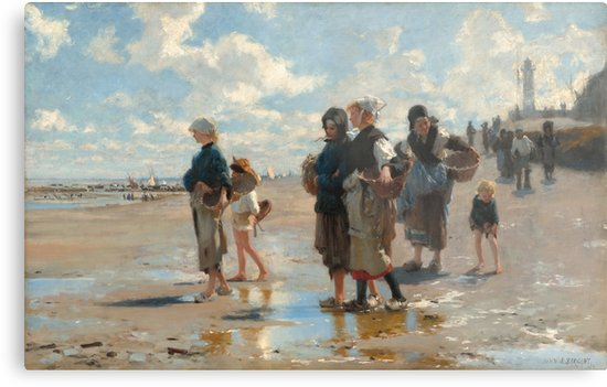 Setting Out to Fish Oil Painting by John Singer Sargent Metal Prints