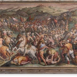 Classic Art The battle of Marciano in Val di Chiana By Giorgio Vasari Canvas Prints