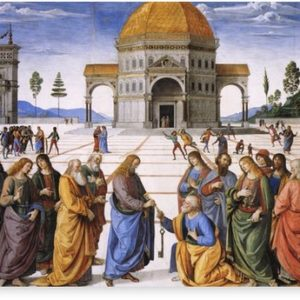 The Delivery of the Keys Painting by Perugino Sistine Chapel Canvas Prints