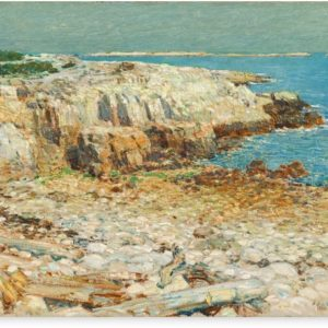 A North East Headland Oil Painting by Childe Hassam Canvas Prints