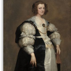 Lady with a Fan Oil Painting by Sir Anthony van Dyck Canvas Prints