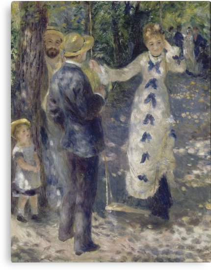 The Swing Oil Painting by Auguste Renoir Canvas Prints