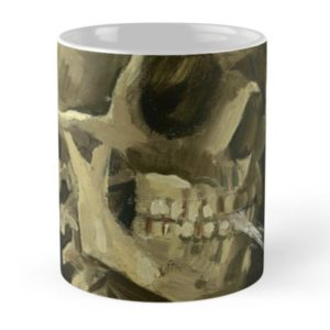 Skull of a Skeleton with Burning Cigarette by Vincent van Gogh Mugs