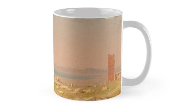 Ruins of the Parthenon Oil Painting by Sanford Robinson Gifford Mugs