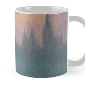 The Houses of Parliament  Sunset by Claude Monet Mugs