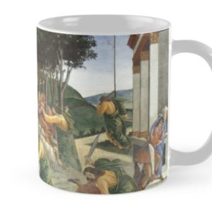 Trials of Moses Painting by Botticelli - Sistine Chapel Mugs
