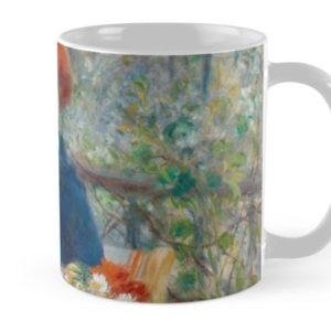 Two Sisters on the Terrace Oil Painting by Auguste Renoir Mugs