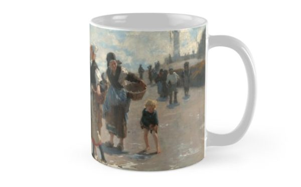 Setting Out to Fish Oil Painting by John Singer Sargent Mugs