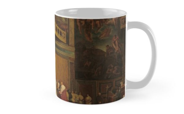 Pope Pius VII in the Sistine Chapel Oil Painting by Jean-Auguste-Dominique Ingres Mugs