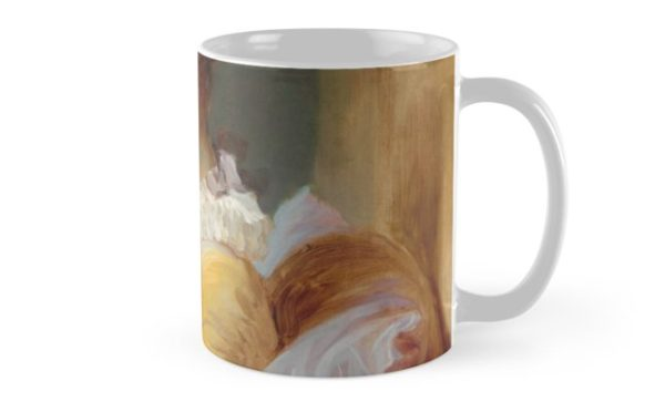 Young Girl Reading Painting by Jean-Honoré Fragonard Mugs