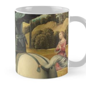 Saint George and the Dragon Oil Painting By Raphael Mugs