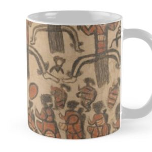 Wurundjeri People Charcoal Drawing by Australian William Barak Mugs