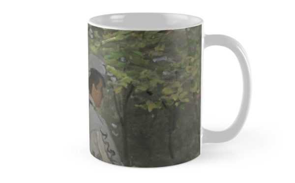 Bazille and Camille Painting by Claude Monet Mugs
