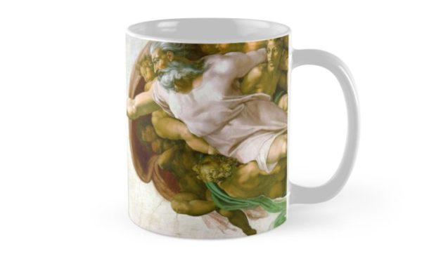 The Creation of Adam Painting by Michelangelo Sistine Chapel Mugs