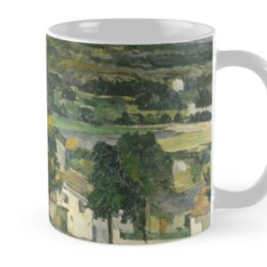 Stolen Art - View of Auvers-sur-Oise by Paul Cezanne Mugs
