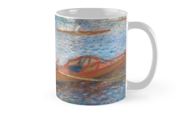 Oarsmen at Chatou Painting by Auguste Renoir Mugs