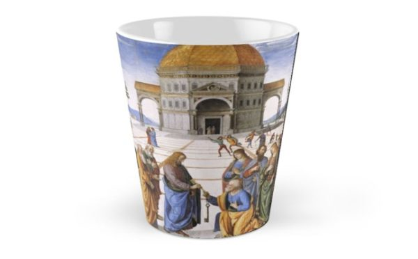 The Delivery of the Keys Painting by Perugino Sistine Chapel Tall Mugs