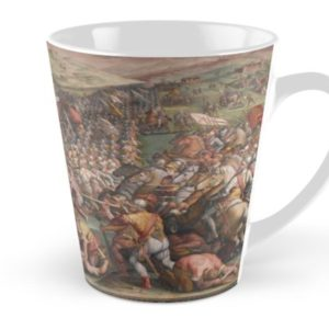 Classic Art The battle of Marciano in Val di Chiana By Giorgio Vasari Tall Mugs