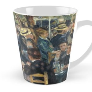 Bal du Moulin de la Galette Oil Painting by Auguste Renoir Tall Mugs