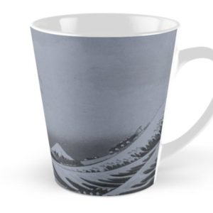 Silver Japanese Great Wave off Kanagawa by Hokusai Tall Mugs