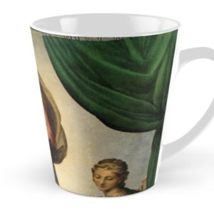 The Sistine Madonna Oil Painting by Raphael Tall Mugs
