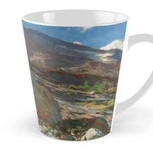 Simplon Pass Oil Painting by  John Singer Sargent Tall Mugs