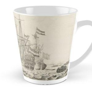 Dutch Ships near the Coast Oil Painting by Willem van de Velde the Elder Tall Mugs