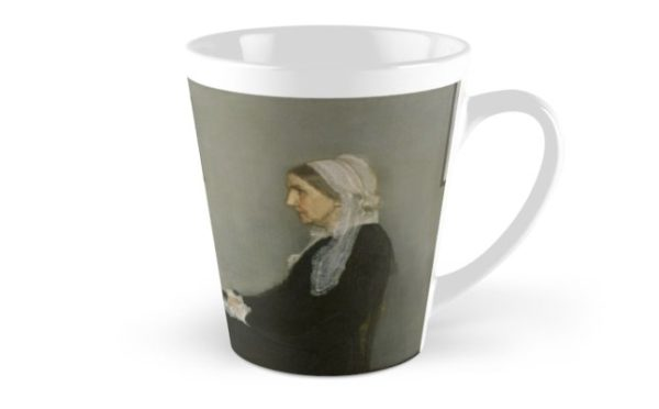 Whistlers Mother Oil Painting by James McNeill Whistler Tall Mugs
