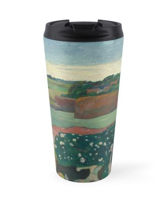 Haystacks in Brittany Oil Painting by Paul Gauguin Travel Mugs