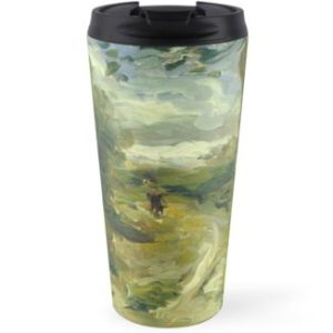 Landscape Between Storms Oil Painting by Auguste Renoir Travel Mugs