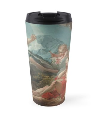 Diana and Endymion Oil Painting by Jean-Honoré Fragonard Travel Mugs