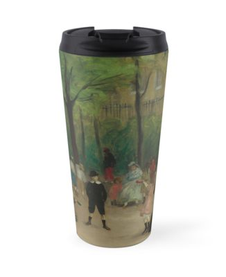 Luxembourg Gardens Oil Painting by William James Glackens Travel Mugs