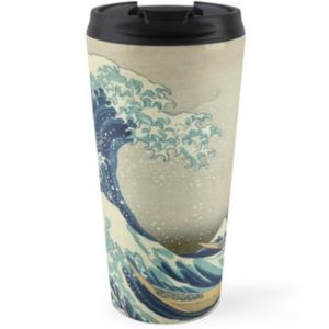 The Classic Japanese Great Wave off Kanagawa by Hokusai Travel Mugs