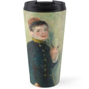 The Young Soldier oil Painting by Auguste Renoir Travel Mugs