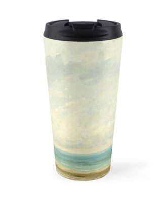 Calm Sea Oil Painting by Gustave Courbet Travel Mugs
