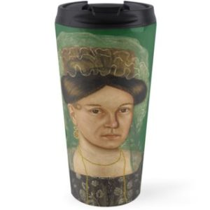 Eliza R. Read Oil Painting by Royall Brewster Smith Travel Mugs