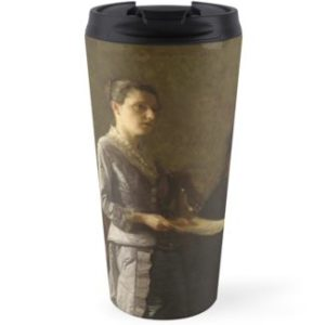 Singing a Pathetic Song Oil Painting by Thomas Eakins Travel Mugs
