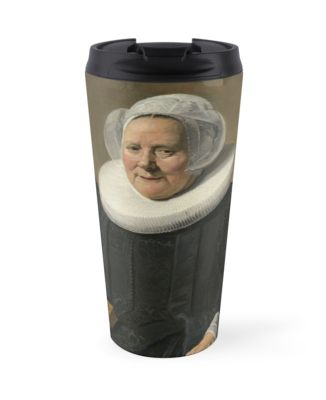 Portrait of an Elderly Oil Painting Lady by Frans Hals Travel Mugs