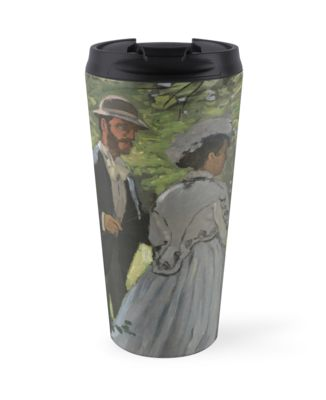 Bazille and Camille Painting by Claude Monet Travel Mugs