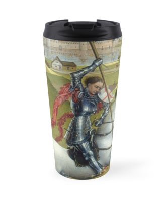 Saint George and the Dragon Oil Painting by Rogier van der Weyden Travel Mugs