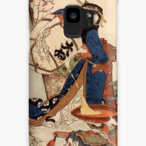 The Strong Oi Pouring Sake by Katsushika Hokusai Cases & Skins for Samsung Galaxy