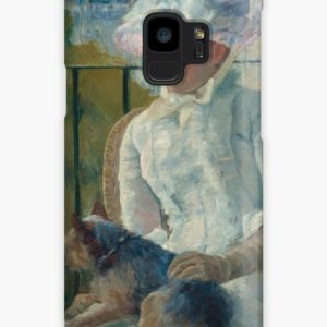 Young Girl at a Window Oil Painting by Mary Stevenson Cassatt Cases & Skins for Samsung Galaxy